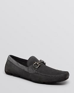 Salvatore Ferragamo - Parigi Suede Driving Loafers