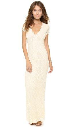 Nightcap Clothing  - Victorian Lace Cap Sleeve Dress