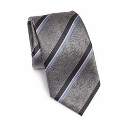 Brioni  - Striped Woven Silk Tie