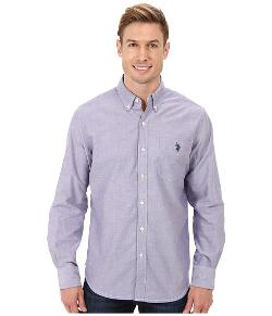 U.S. Polo Assn.  - Solid Long Sleeve Oxford Button-Down Shirt