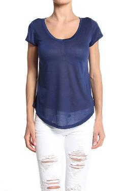 TheMogan  - Semi Sheer Loose Fit Boyfriend T-Shirt
