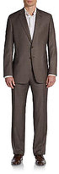 Armani Collezioni  - Plaid Wool Two-Button Suit
