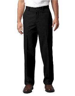 Black Brown  - Flat-front Supima Cotton Pants