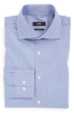 Hugo Boss - Miles Sharp Fit Check Dress Shirt