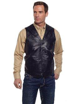 Cripple Creek  - Leather Western Button Front Vest