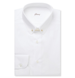 Brioni   - White Cotton Shirt