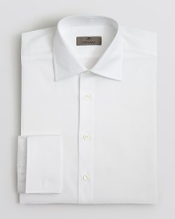 Canali  - Solid French Cuff Dress Shirt