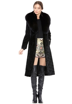 Alice and Olivia - Midlength Coat With Fur Collar