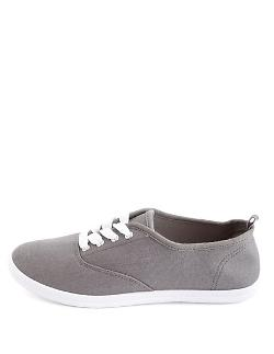 Charlotte Russe - Canvas Lace-up Sneaker