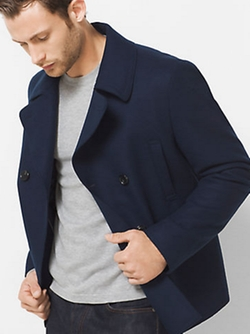 Michael Kors - Wool-Melton Peacoat