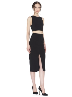 Alice and Olivia - Spiga Front Slit Midlength Pencil Skirt