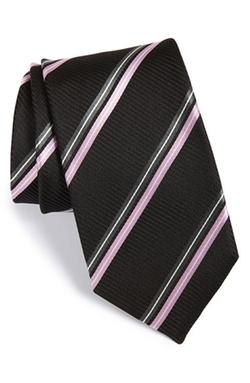 Boss - Stripe Silk Tie