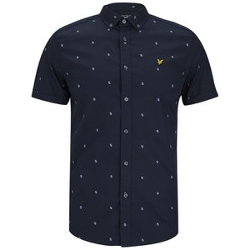 Lyle & Scott - Short Sleeve Micro Split Square Shirt