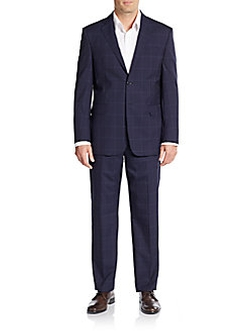Yves Saint Laurent  - Regular-Fit Windowpane Check Virgin Wool Suit