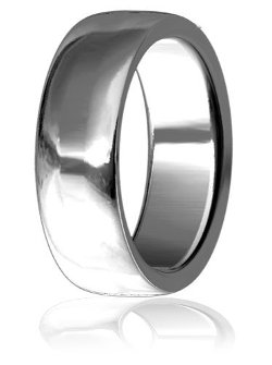 Plain Wedding Bands  - Slight Dome Wedding Band Ring