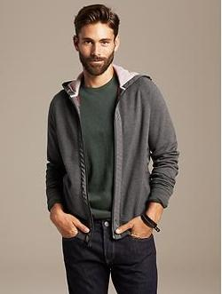 Banana Republic - Hooded Zip Jacket