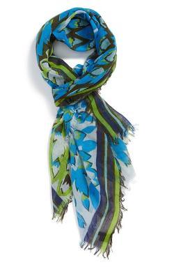 Tarnish  - Dahlia Floral Print Scarf