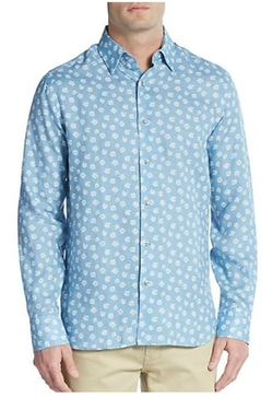 Saks Fifth Avenue - Regular-Fit Floral-Print Linen Sportshirt
