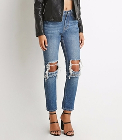 Forever 21 - Destroyed Boyfriend Jeans