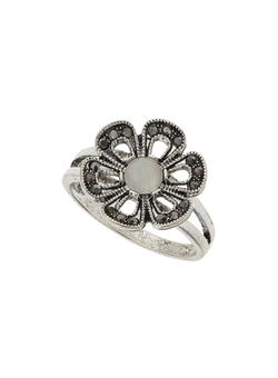 Dorothy Perkins - Silver Flower Stone Ring