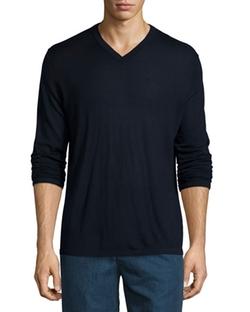 Vince - V-Neck Wool-Silk Sweater