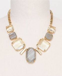 Ann Taylor - Mixed Stone Faceted Necklace