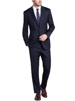 Gino Valentino - Two Button Navy Suit