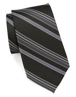 Black Brown 1826  - Multi-stripe Silk Tie