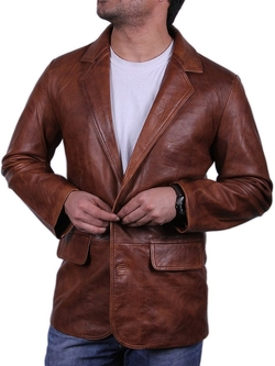 Brandslock  - Leather Blazer