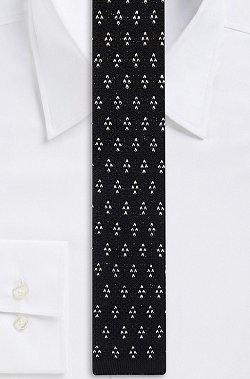 Hugo Boss - Skinny, Cotton Knit Print Tie