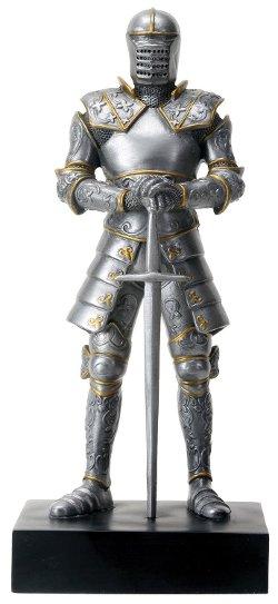 "Summit - Italian Medieval Knight Statue 9""h Figurine Royal Suit of Armor"