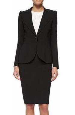 Carolina Herrera - Peaked-Sleeve One-Button Blazer