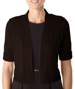 Bay Studio - Career Solid Button Sleeve Shrug