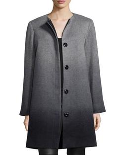Sofia Cashmere  - Wool-Cashmere Ombre Coat