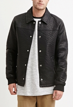 21 Men - Faux Leather Jacket