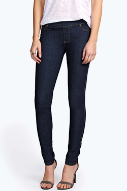 Boohoo Blue - Cleo Denim Pull On Jeggings