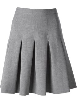 Diane Von Furstenberg - Pleated A-Line Skirt
