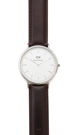 Daniel Wellington  - Bristol 40mm Watch with Brown Leather Band