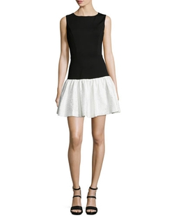 Erin Erin Fetherston - Hepburn Combo Dropped-Waist Dress