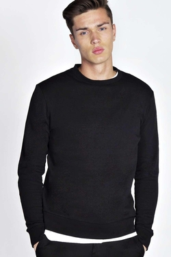 Boohooman Blue  - Basic Crew Neck Sweater