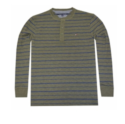 Tommy Hilfiger - Long Sleeve Stripe Henley Tee