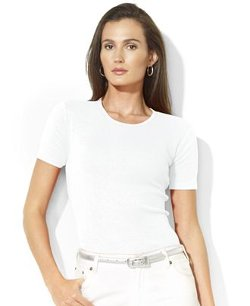 Lauren Ralph Lauren  - Short-Sleeve Crew-Neck Tee