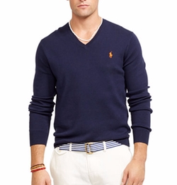 Polo Ralph Lauren - Pima V-Neck Sweater