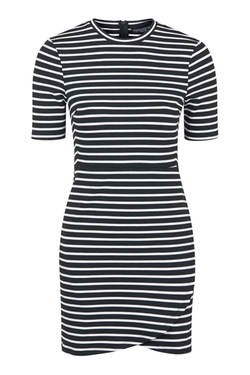 Topshop - Stripe Wrap Bodycon Dress