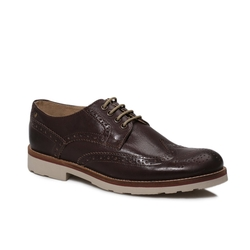 Base London  - Brown Brogues Bowling Shoes