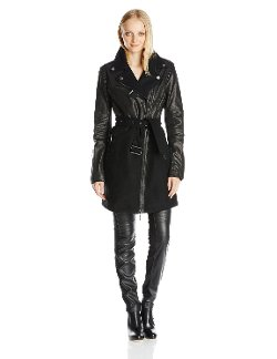 BCBGMAXAZRIA - Johnna Mixed Media Wool Coat