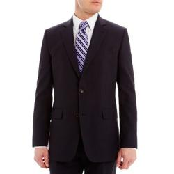 Stafford - Super 130 Navy Pinstripe Suit Jacket