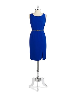 Nipon Boutique - Belted Sheath Dress