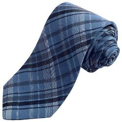 John Varvatos Star USA  - Bold Plaid Tie- Silk Blend