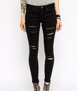 Asos Petite - Whitby Low Rise Skinny Jeans